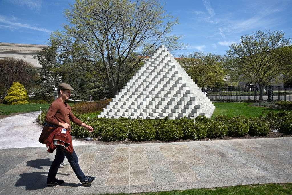 Sol LeWitt Four-Sided Pyramid
