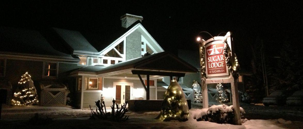 Sugar Lodge at dusk