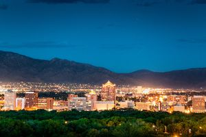 Albuquerque Skyline at Dusk