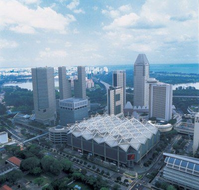 Suntec City from the air