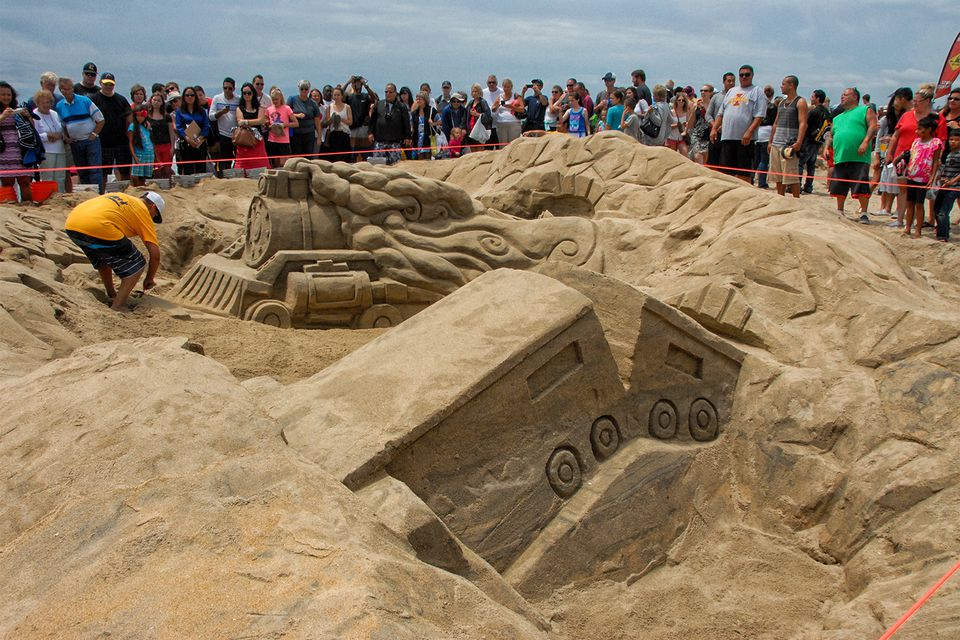Sandcastle Competition at Imperial Beach, San Diego in July