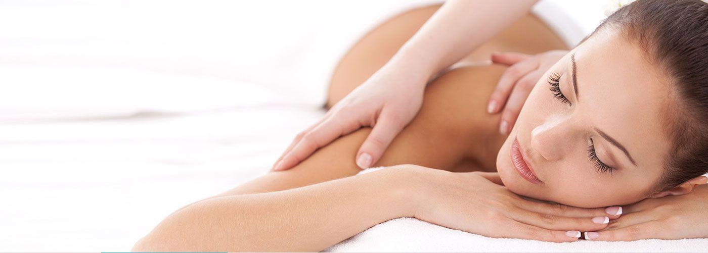 Person receiving massage at Bliss Spa at W Atlanta Downtown Hotel, Atlanta, GA