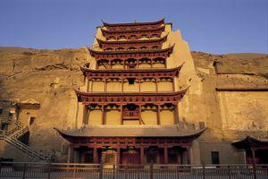 Mogao Caves, UNESCO World Heritage Site, Dunhuang, Gansu Province, China, Asia