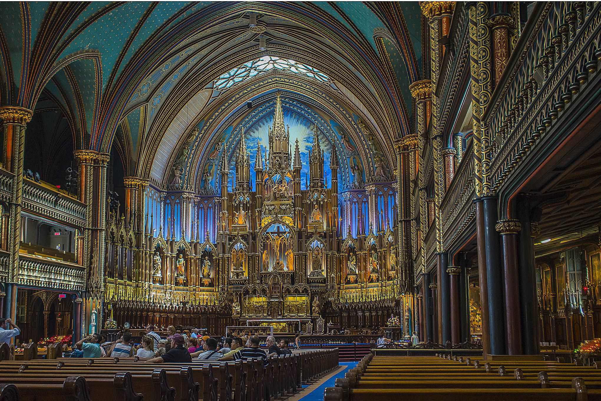Notre-Dame Basilica is Montreal's flagship attraction.