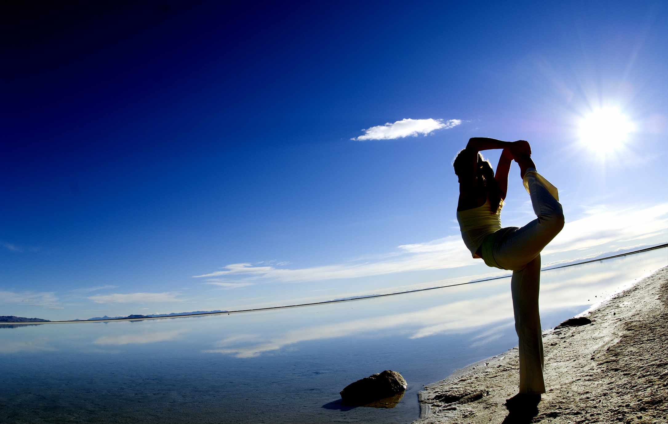 Yoga by the Great Salt Lake
