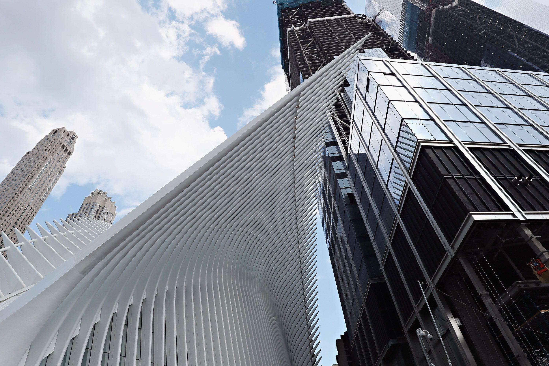 Calatrava-Designed Oculus, a Transportation Hub next to Tower 3 by Richard Rogers