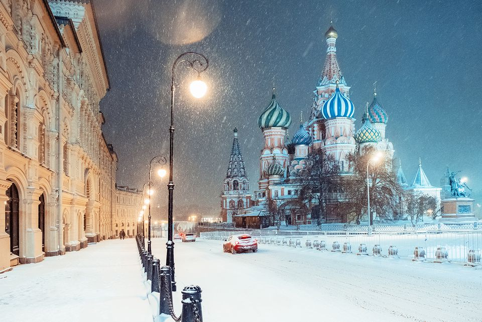 Moscow covered in snow