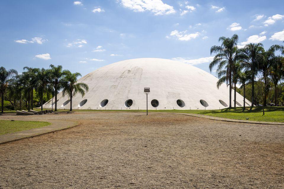 Oca building, exhibition space in Ibirapuera Park.