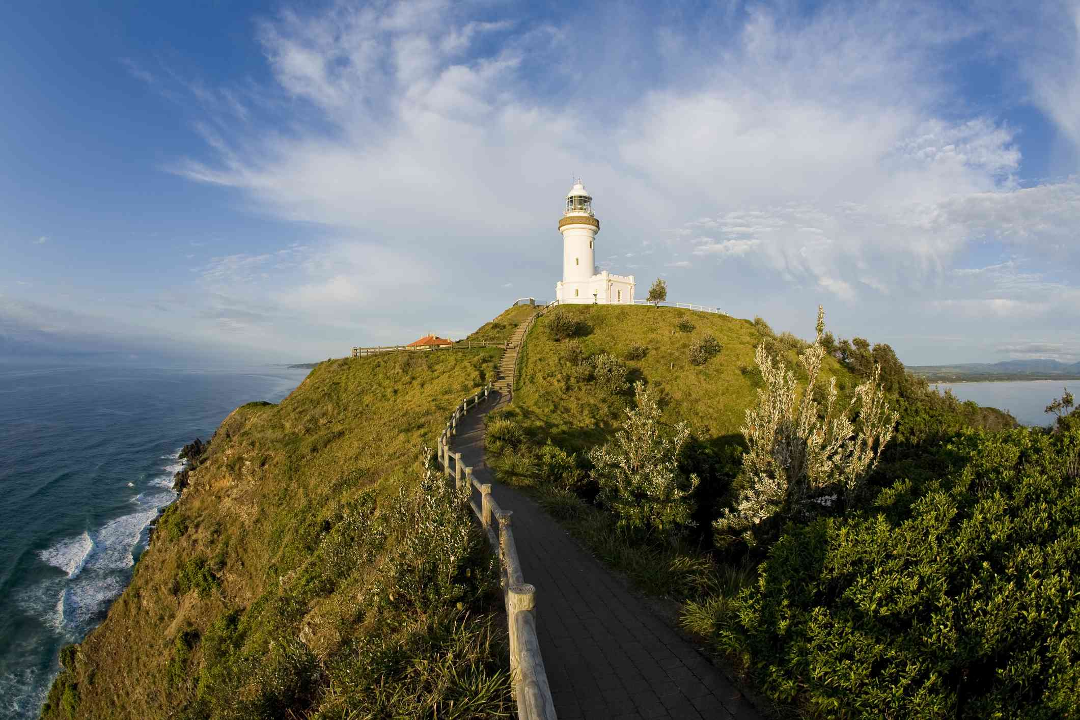 path leading to a hilltop lighthouse