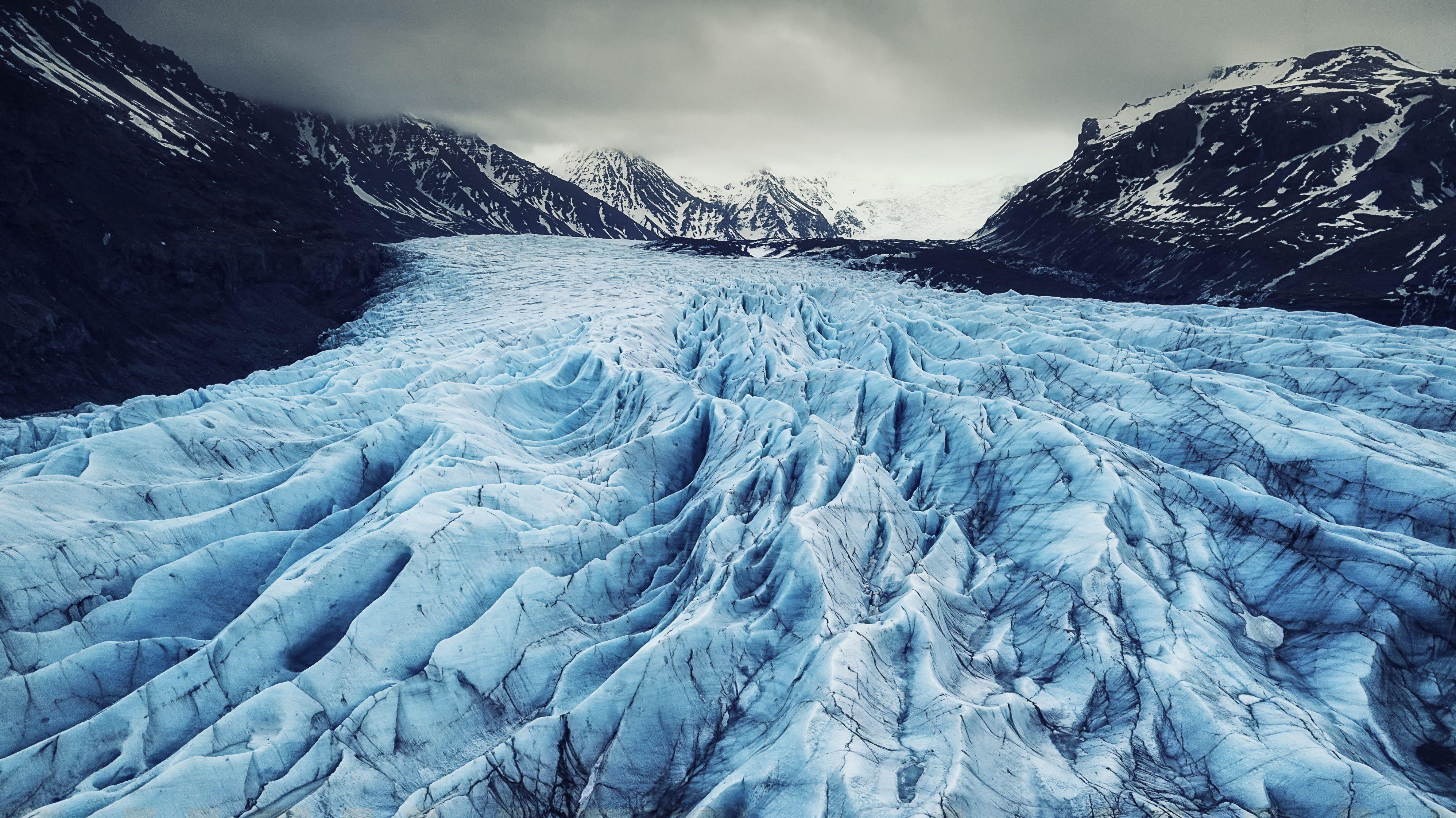 Svínafellsjökull en Islandia