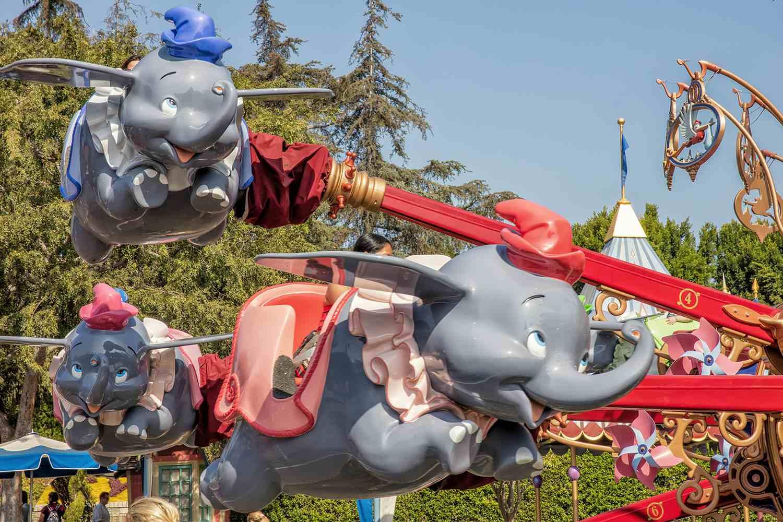 Little girl flying elephant size 2 years.