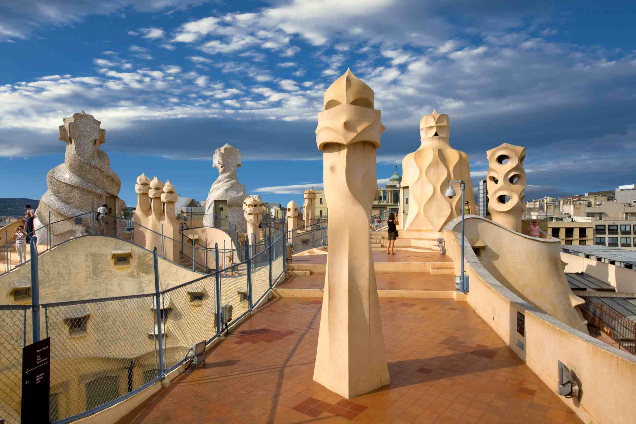 The roof of Casa Mila.