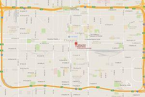 Map to Talking Stick resort Arena, Phoenix