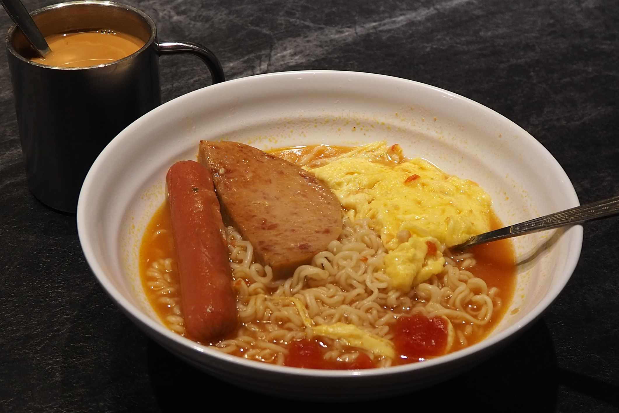 Luncheon Meat on Noodles, Hong Kong
