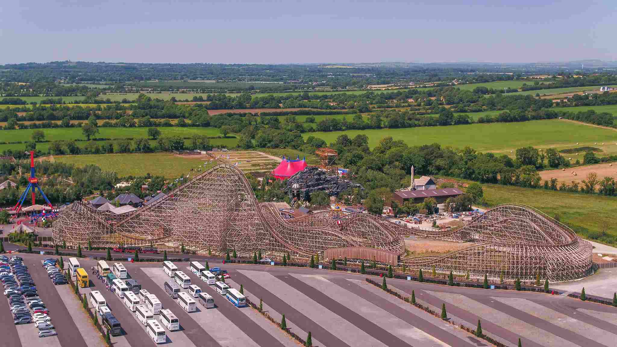 Helicopter view of Tayto Park