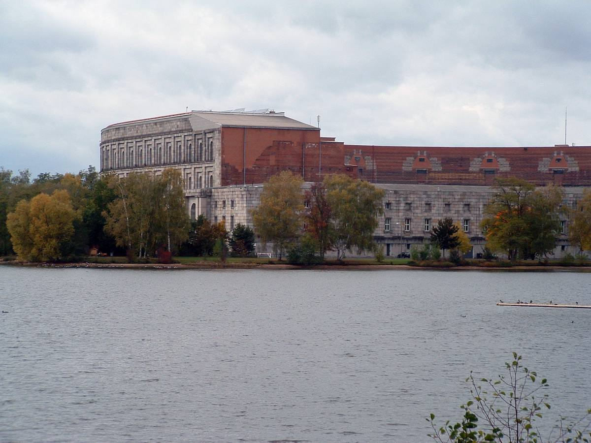 Former Nazi Party Rally Grounds and the river in Nuremberg, Germany