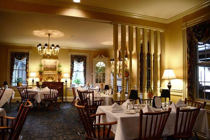 Dining room at the Merrick Inn for fine dining in Lexington