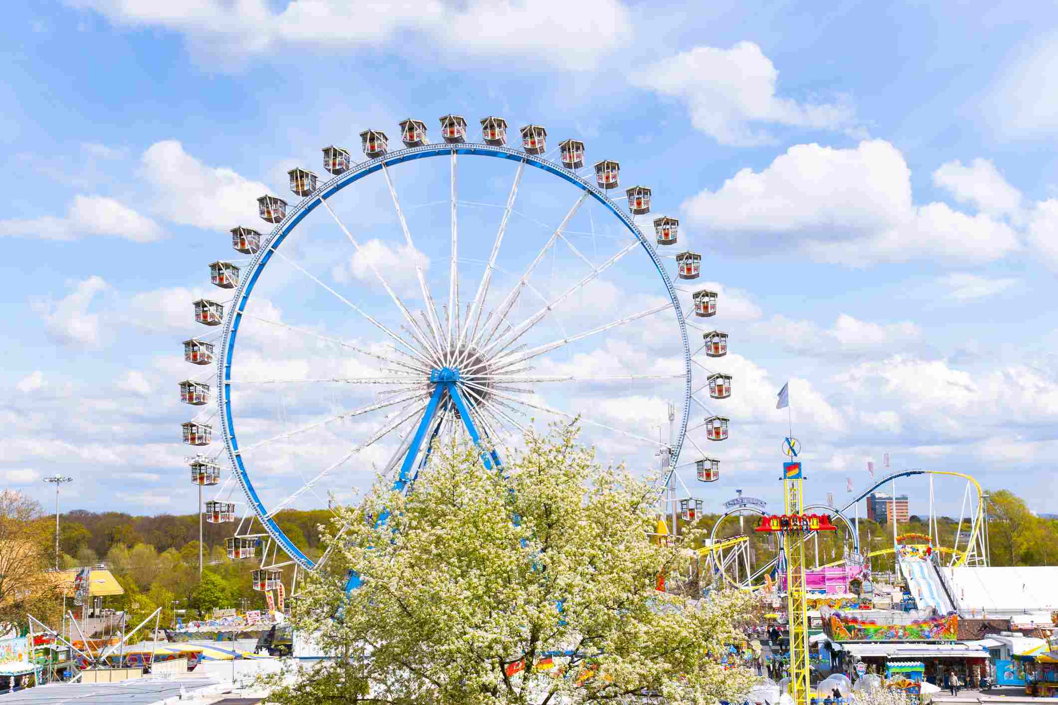 ferris wheel at Frankfurt spring fair