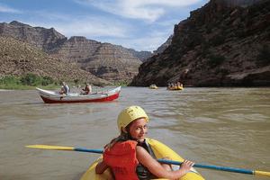 Family Rafting on Utah's Green River