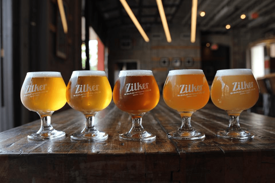 a flight at Zilker Brewing Company