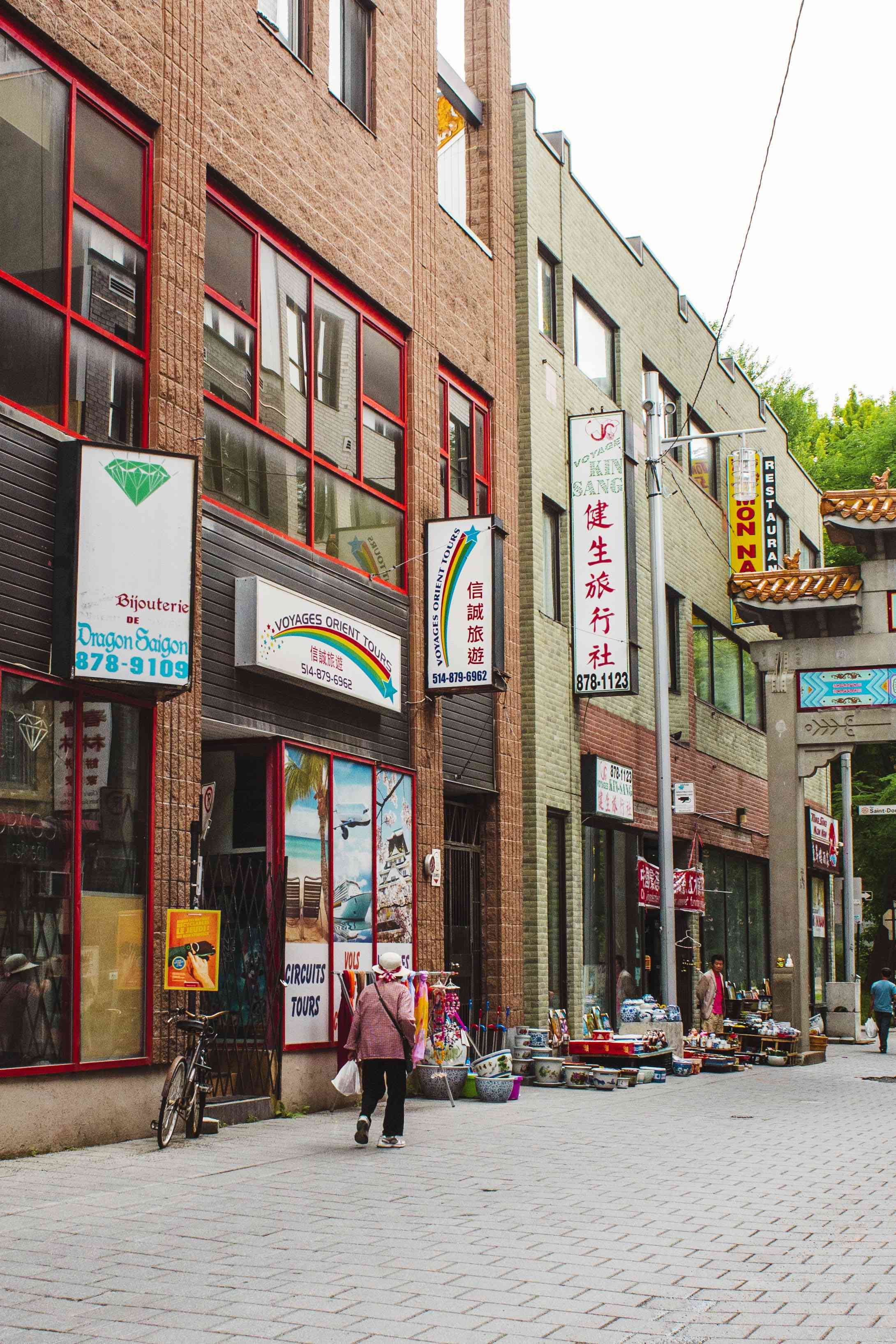 Shops in Montreal's Chinatown