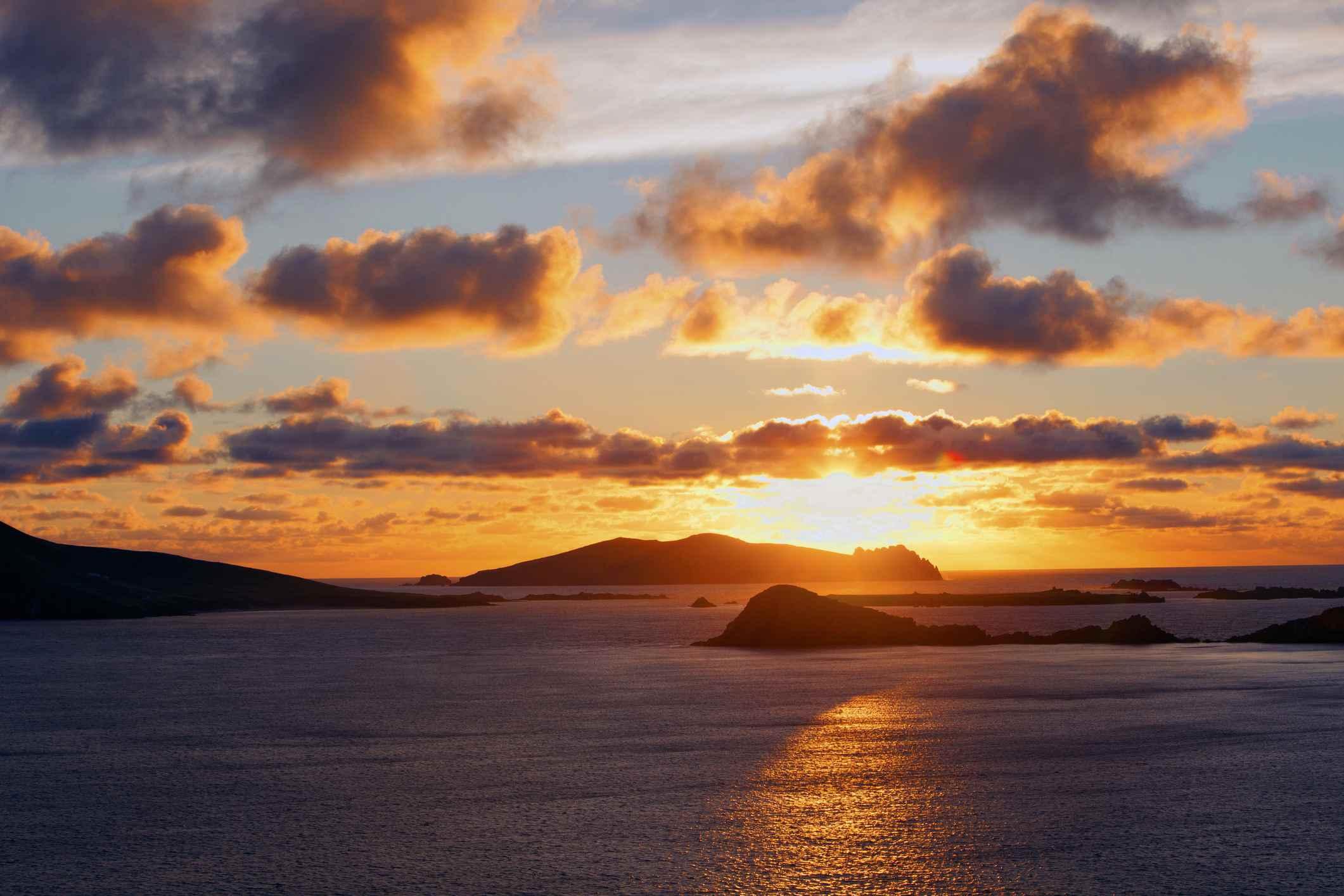 Sunset on Irish islands
