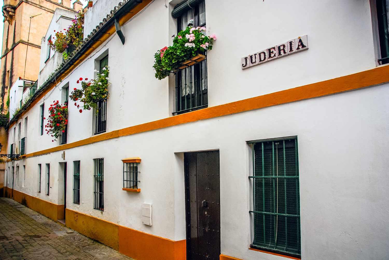 Buildings along Calle Judería in Barrio Santa Cruz, Seville