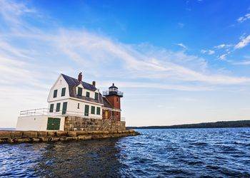 Rockland Breakwater Light in Rockland Maine