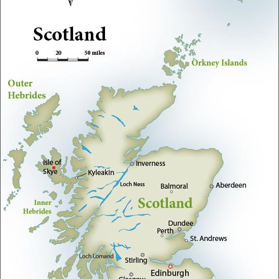 Scotland Map: Top Tourist Hot Spots