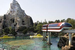 Disneyland Submarine Voyage, Monorail, and Matterhorn attractions