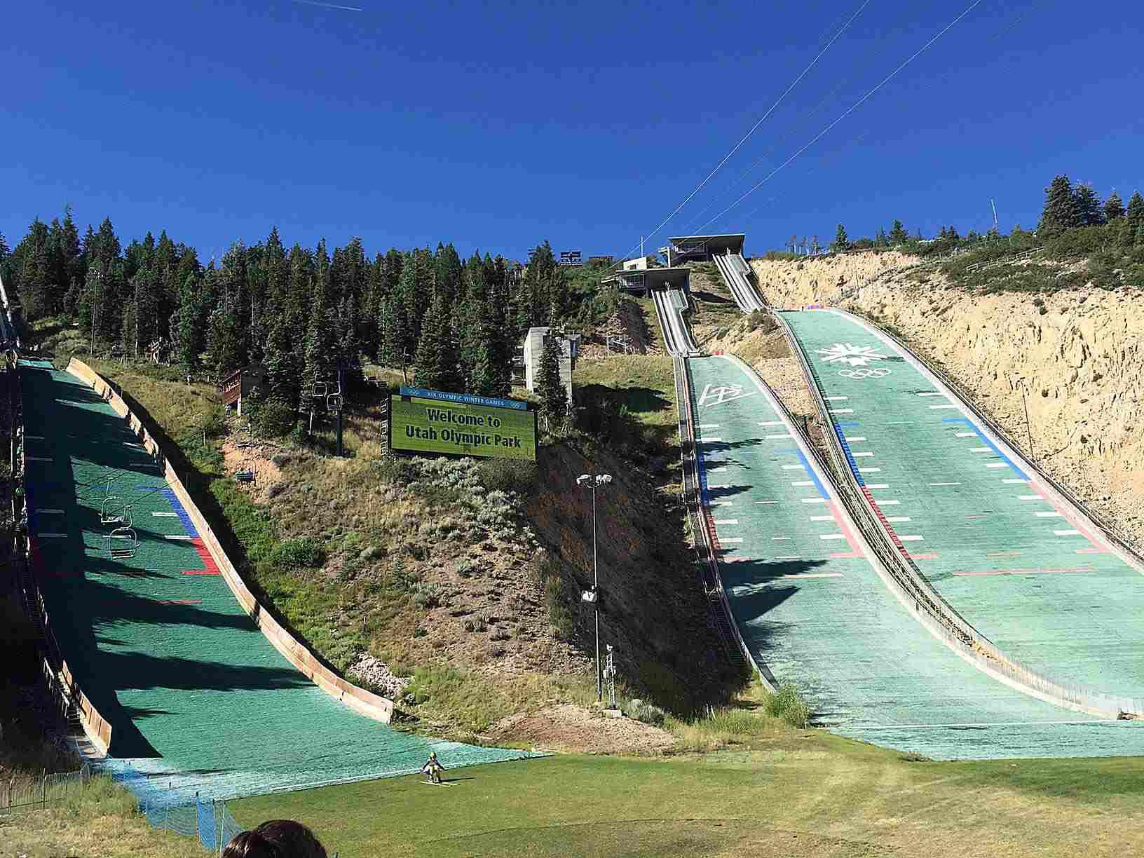 Campo de tirolesa del Parque Olímpico de Utah