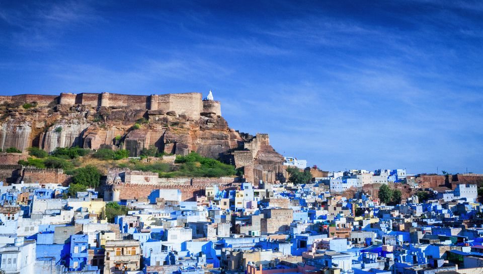 Cityscape of Blue City and Mehrangarh Fort - Jodhpur, India