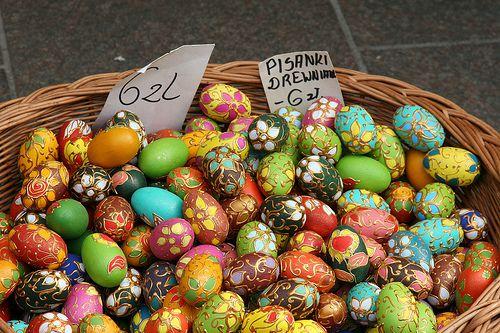 Eggs at Krakow Easter Market