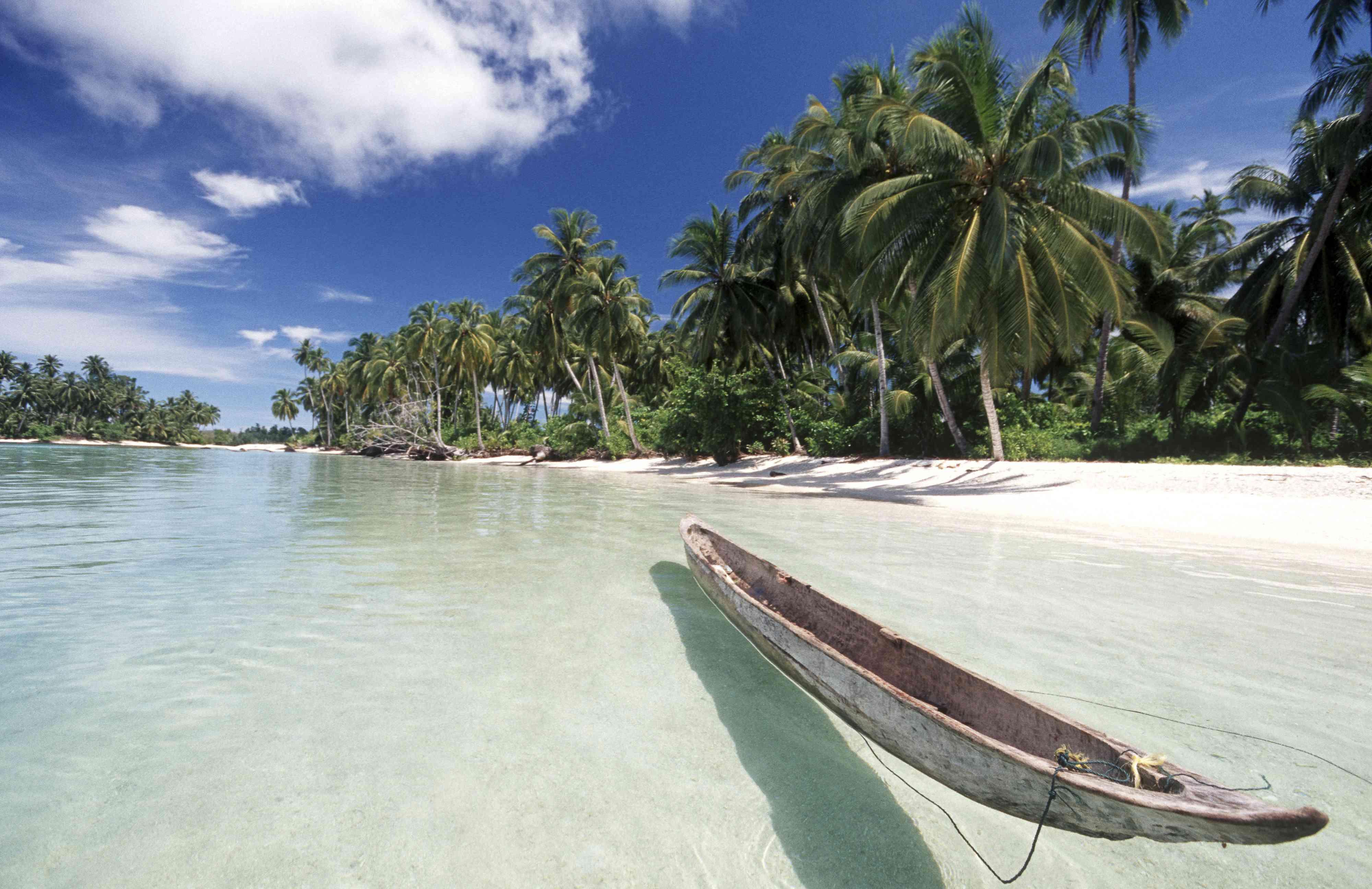 A canoe in the Mentawai Islands, West Sumatra