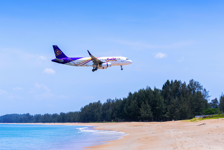 Thai Airways jet landing in Phuket