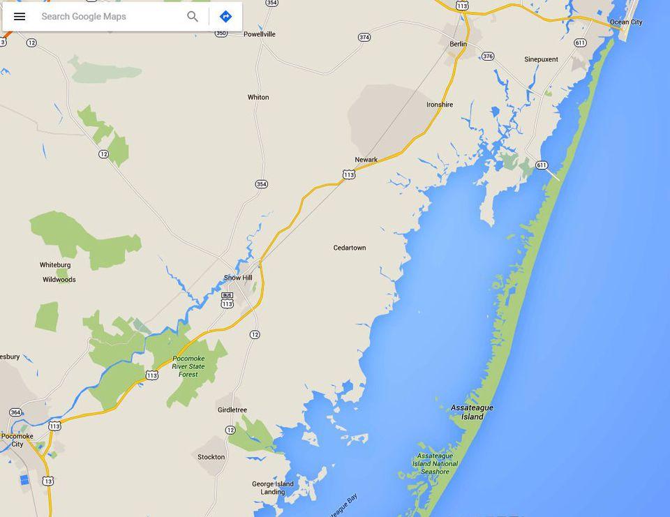 Maps Assateague Island