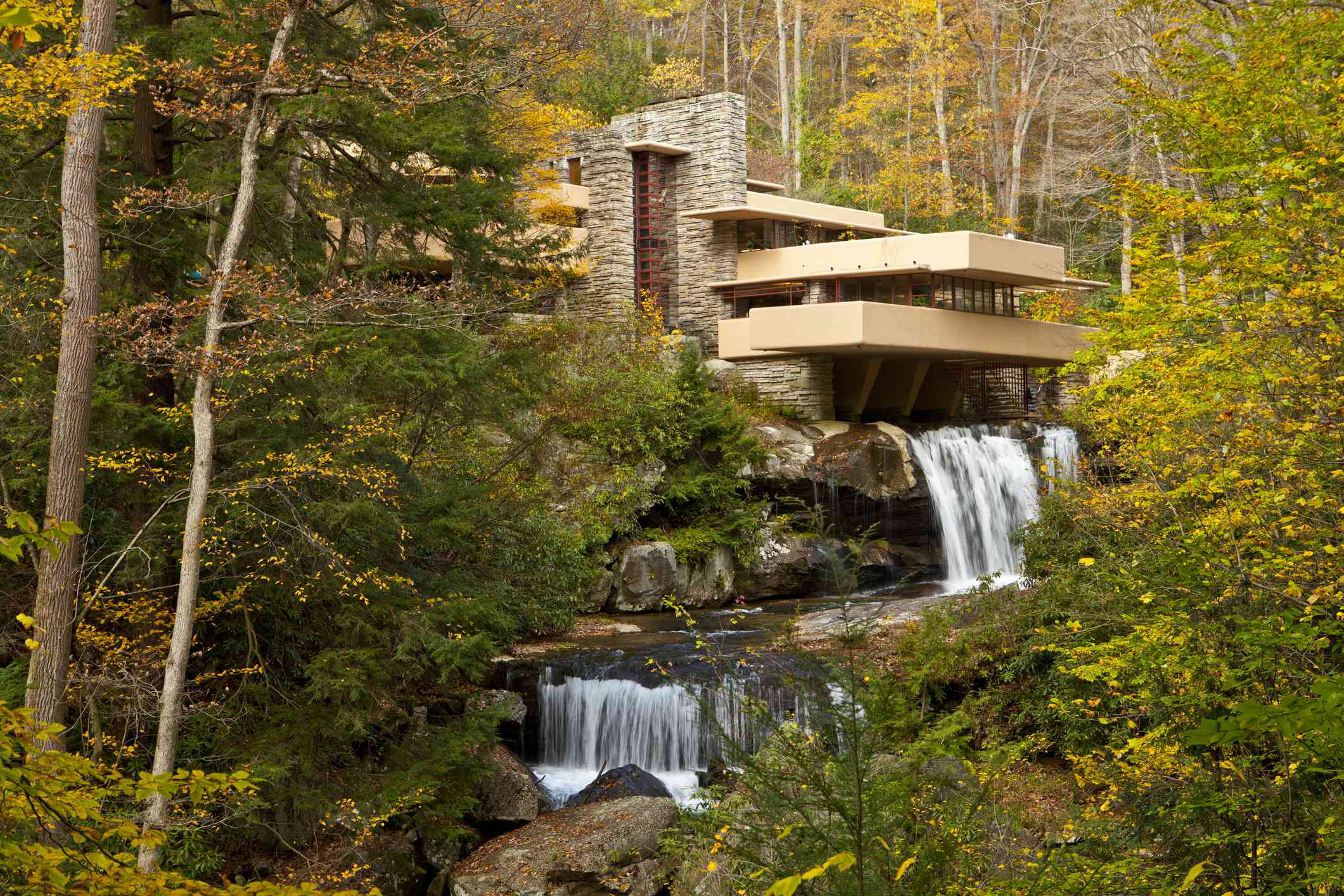 Falling Water House designed by Frank Lloyd Wright
