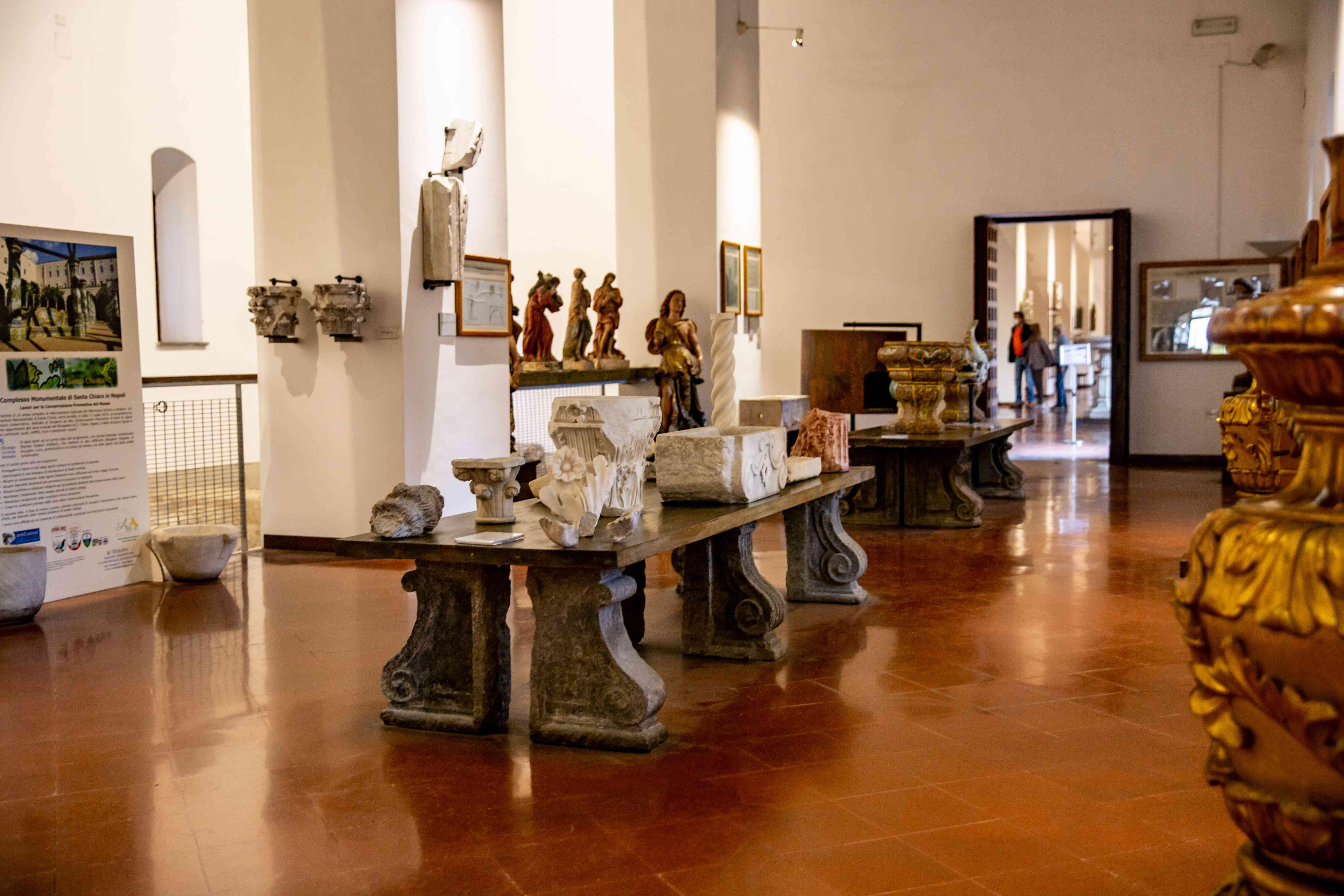 Santa Chiara Monastery and Museum in Naples, Italy
