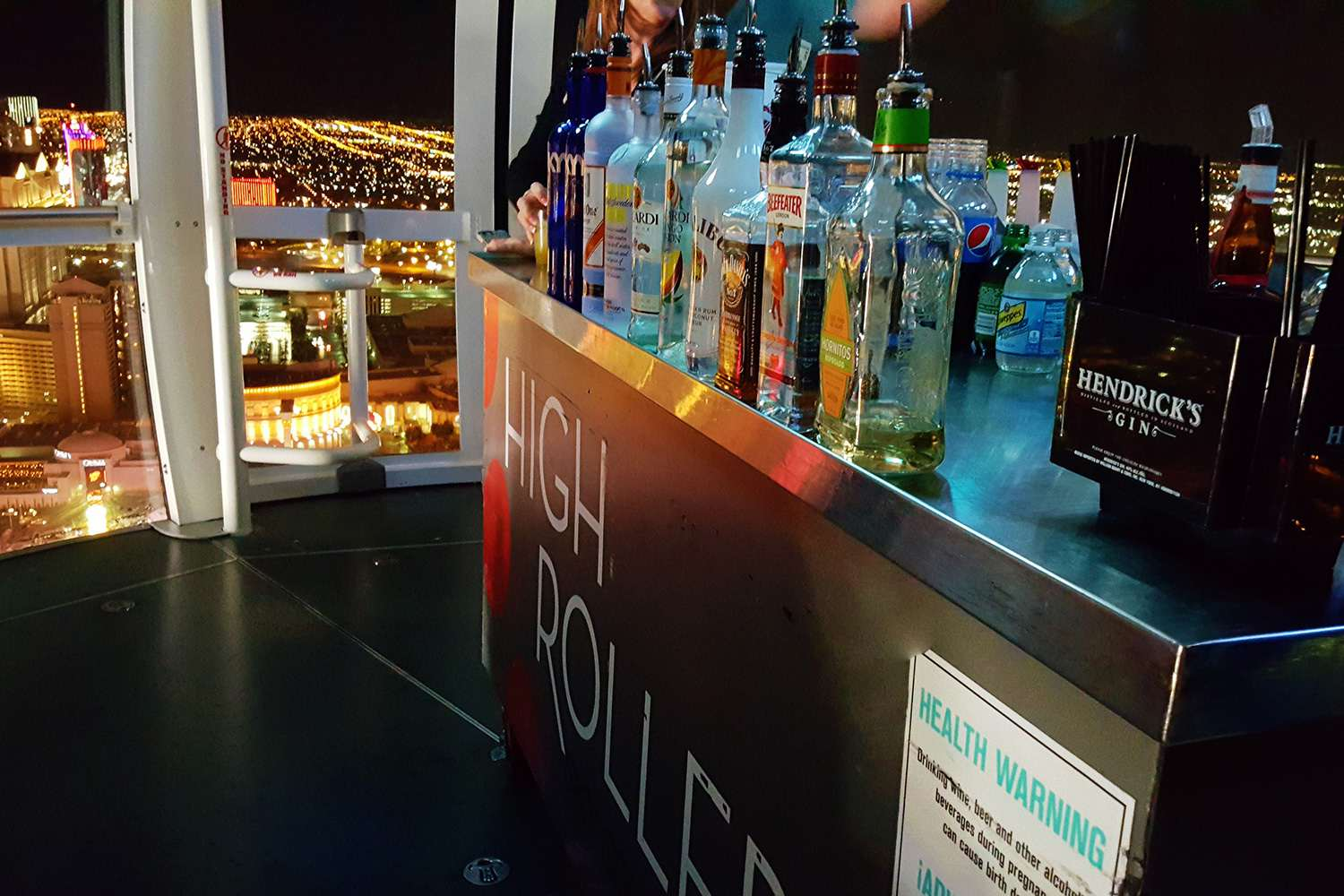 The Cocktail Cart On The High Roller Happy Hour Las Vegas