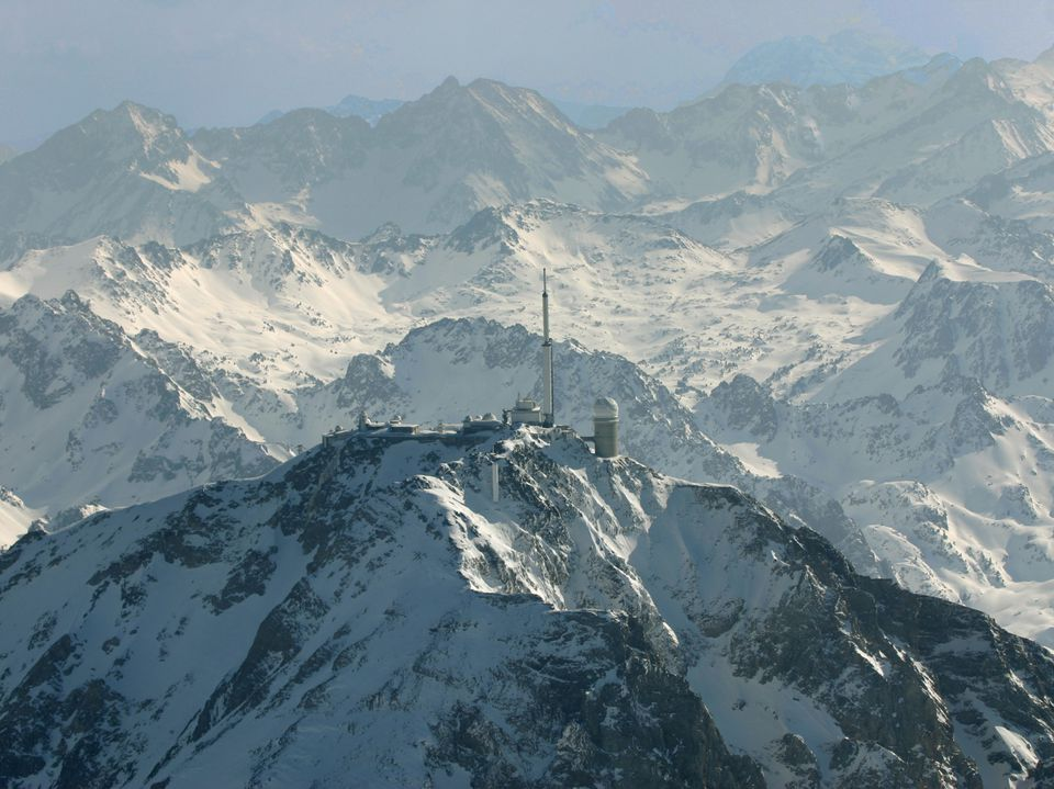 The Observatory at the top of the Pic du Midi at Bigorre