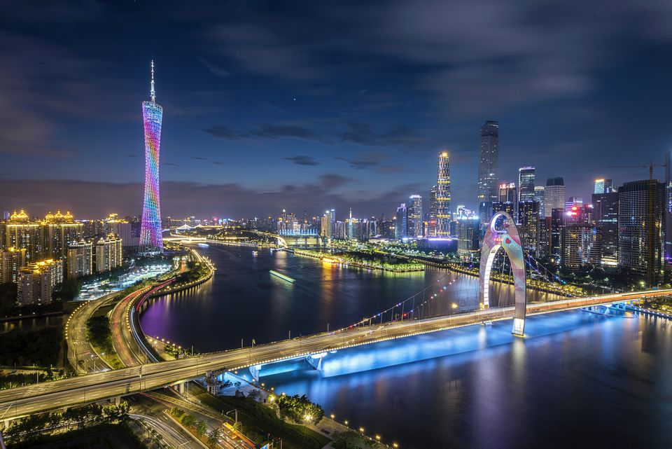 Night view of Guangzhou