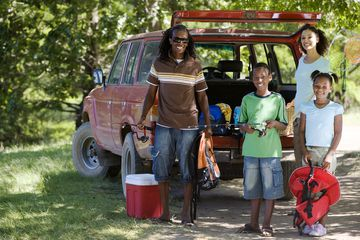 Family on camping trip