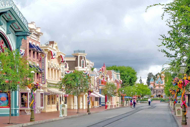 Main Street USA at Disneyland Before Guests Arrive