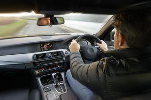 Man driving in Europe