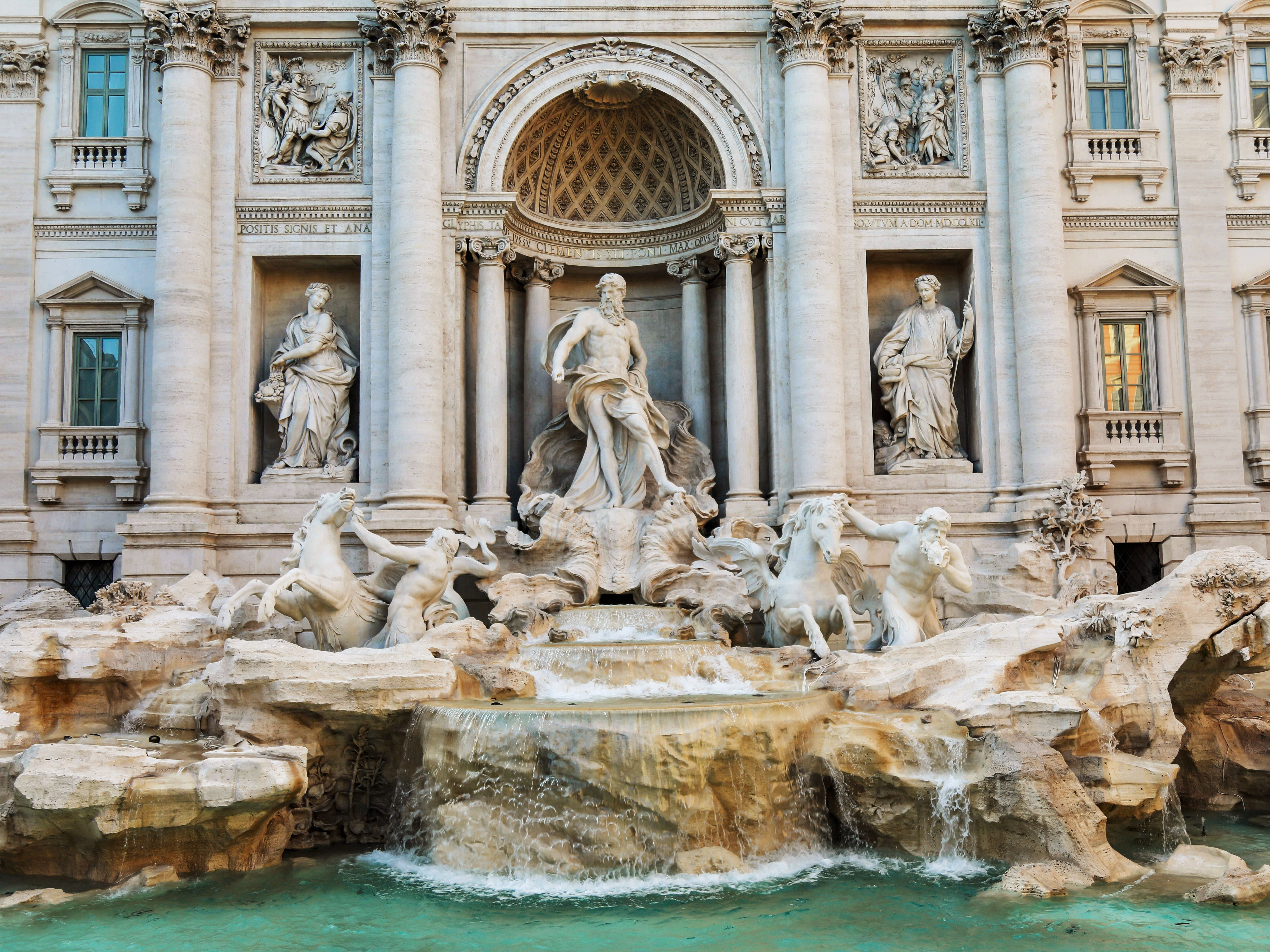 Rome Subway Map To Trevi Fountain Spanish Steps.Rome And The Port Of Civitavecchia