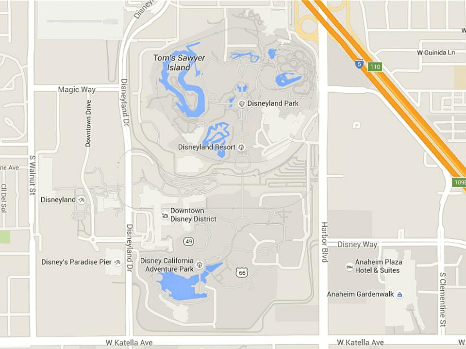 Disney Los Angeles Map.Maps Of Disneyland Resort In Anaheim California