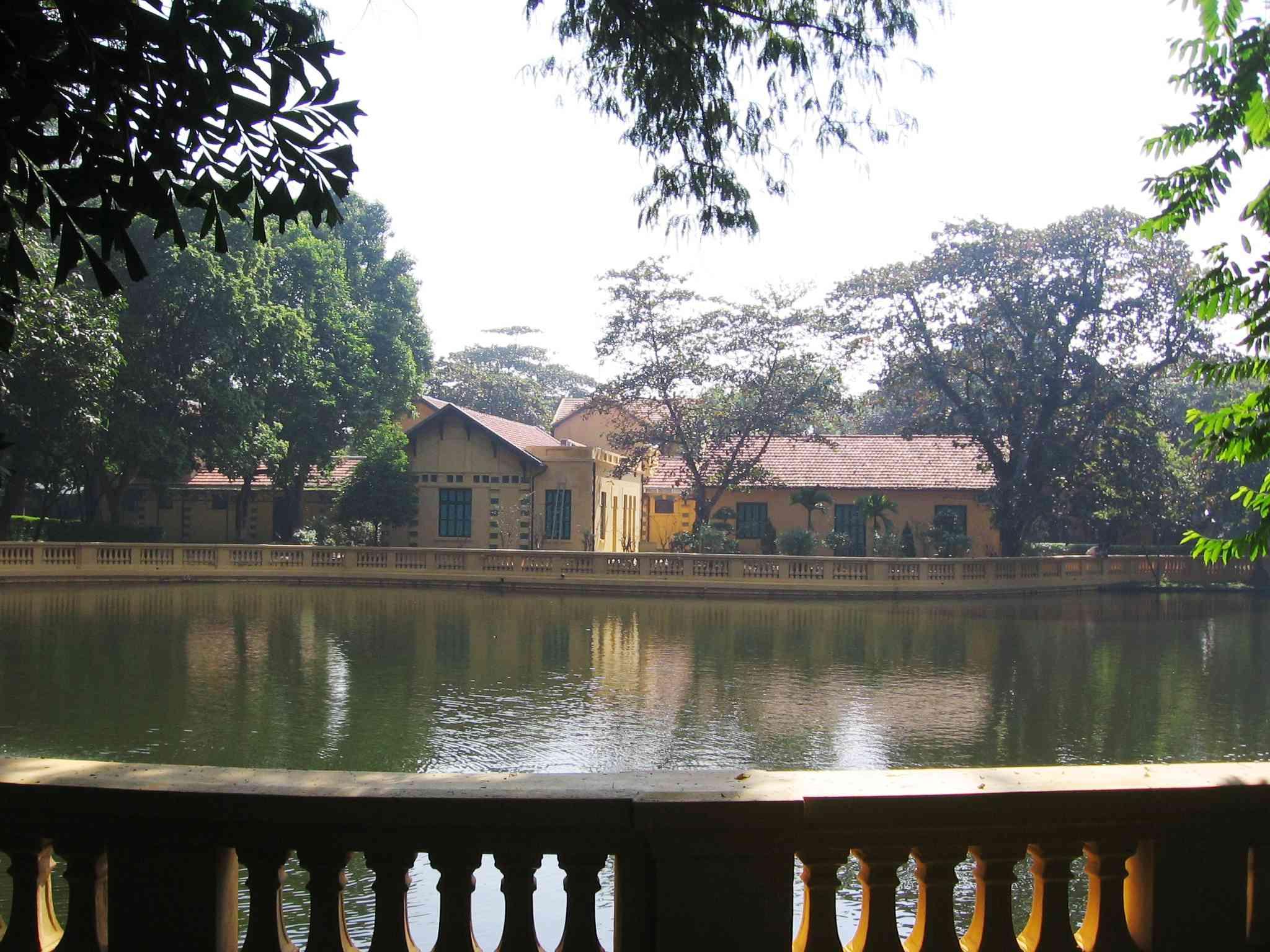 Pond in front of Ho Chi Minh Stilt House