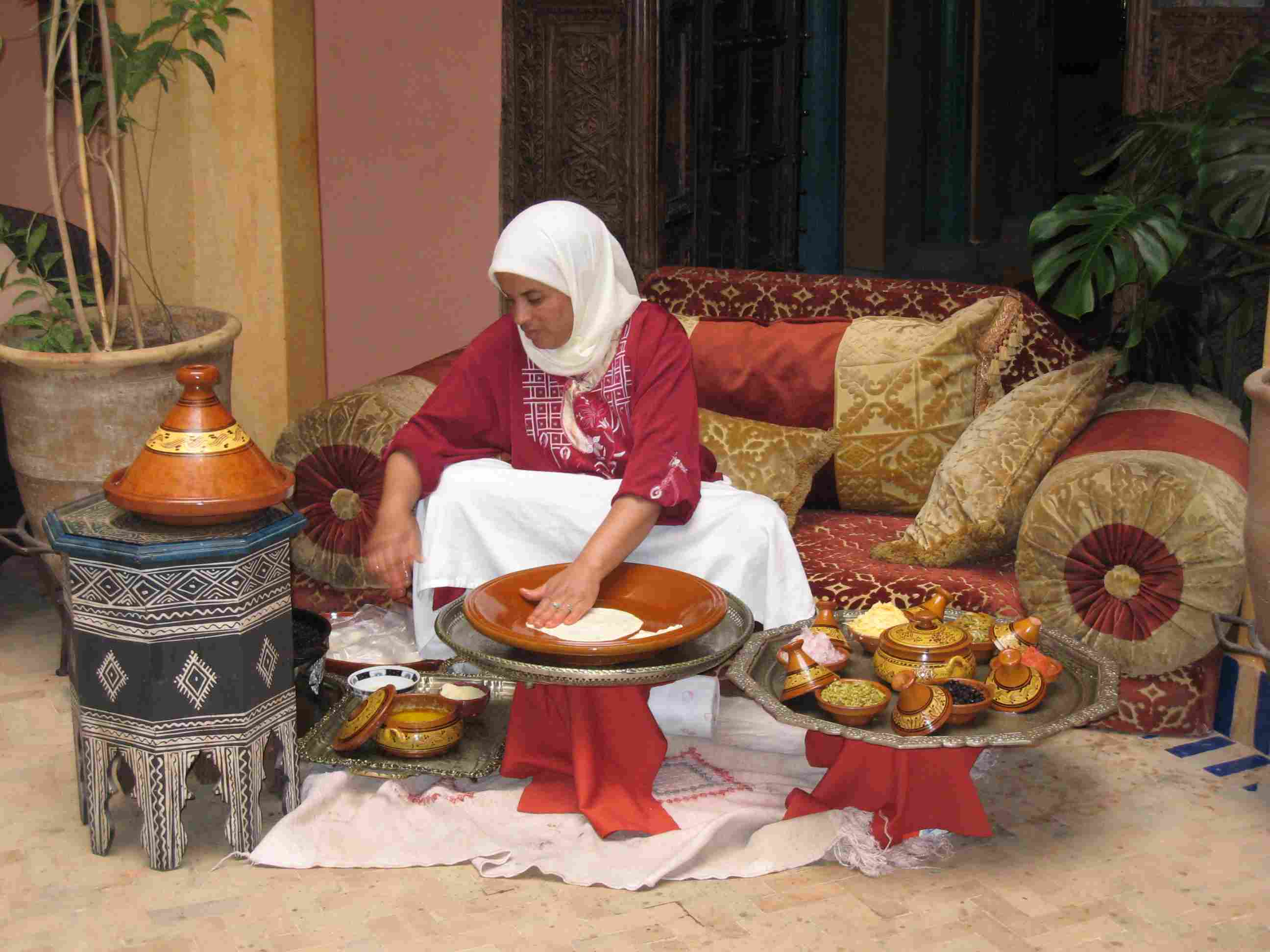 Breakfast Served at La Maison Arabe, Medina, Marrakech