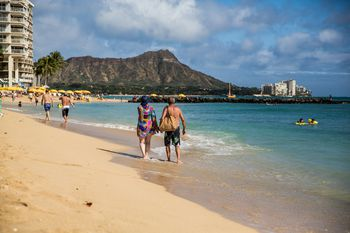 Diamond Head And Waikiki Beach