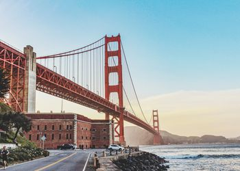 low angle view of golden gate bridge